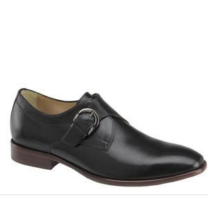Johnston & Murphy McClain Monk Strap Leather Shoes